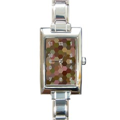 Brown Background Layout Polygon Rectangle Italian Charm Watch