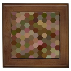 Brown Background Layout Polygon Framed Tiles