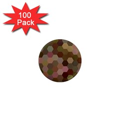 Brown Background Layout Polygon 1  Mini Magnets (100 Pack)