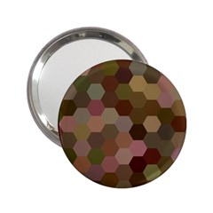 Brown Background Layout Polygon 2 25  Handbag Mirrors by Nexatart
