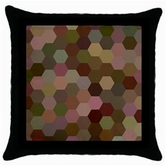 Brown Background Layout Polygon Throw Pillow Case (black) by Nexatart