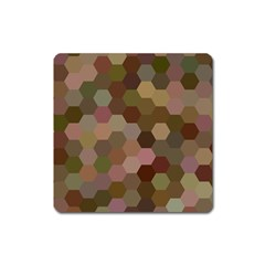 Brown Background Layout Polygon Square Magnet