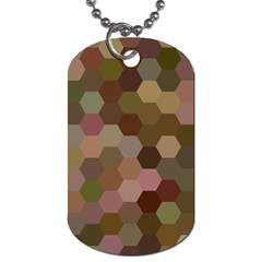 Brown Background Layout Polygon Dog Tag (one Side)