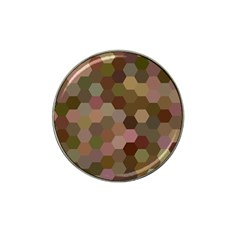 Brown Background Layout Polygon Hat Clip Ball Marker (10 Pack)