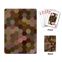 Brown Background Layout Polygon Playing Card by Nexatart