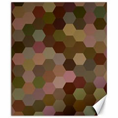 Brown Background Layout Polygon Canvas 8  X 10  by Nexatart