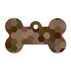 Brown Background Layout Polygon Dog Tag Bone (two Sides)