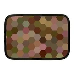 Brown Background Layout Polygon Netbook Case (medium)