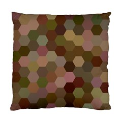Brown Background Layout Polygon Standard Cushion Case (two Sides) by Nexatart