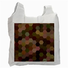Brown Background Layout Polygon Recycle Bag (one Side) by Nexatart