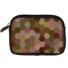 Brown Background Layout Polygon Digital Camera Cases