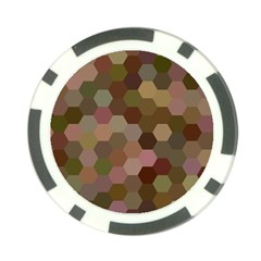 Brown Background Layout Polygon Poker Chip Card Guard (10 Pack) by Nexatart