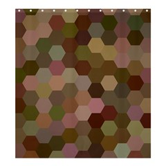 Brown Background Layout Polygon Shower Curtain 66  X 72  (large)  by Nexatart