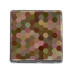 Brown Background Layout Polygon Memory Card Reader (square)