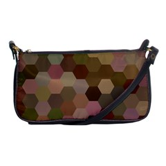 Brown Background Layout Polygon Shoulder Clutch Bags
