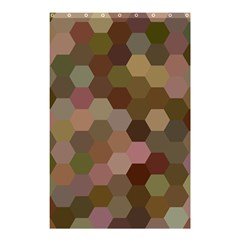 Brown Background Layout Polygon Shower Curtain 48  X 72  (small)  by Nexatart