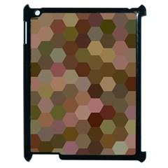 Brown Background Layout Polygon Apple Ipad 2 Case (black)