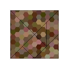 Brown Background Layout Polygon Acrylic Tangram Puzzle (4  X 4 )