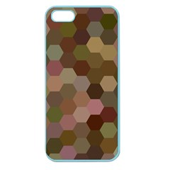 Brown Background Layout Polygon Apple Seamless Iphone 5 Case (color)
