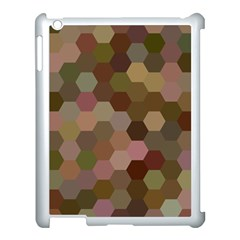 Brown Background Layout Polygon Apple Ipad 3/4 Case (white) by Nexatart