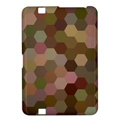 Brown Background Layout Polygon Kindle Fire Hd 8 9  by Nexatart