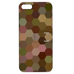 Brown Background Layout Polygon Apple Iphone 5 Hardshell Case With Stand