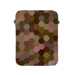 Brown Background Layout Polygon Apple Ipad 2/3/4 Protective Soft Cases
