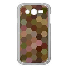 Brown Background Layout Polygon Samsung Galaxy Grand Duos I9082 Case (white)