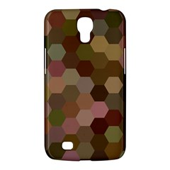 Brown Background Layout Polygon Samsung Galaxy Mega 6 3  I9200 Hardshell Case