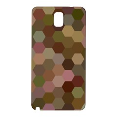 Brown Background Layout Polygon Samsung Galaxy Note 3 N9005 Hardshell Back Case by Nexatart