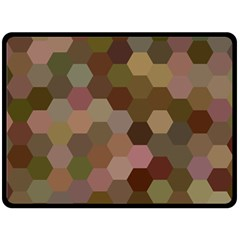 Brown Background Layout Polygon Double Sided Fleece Blanket (large)  by Nexatart