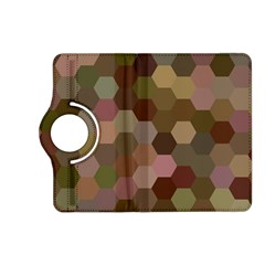 Brown Background Layout Polygon Kindle Fire Hd (2013) Flip 360 Case by Nexatart