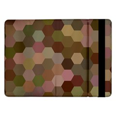 Brown Background Layout Polygon Samsung Galaxy Tab Pro 12 2  Flip Case