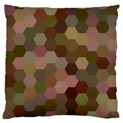 Brown Background Layout Polygon Large Flano Cushion Case (two Sides)
