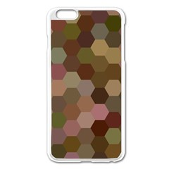 Brown Background Layout Polygon Apple Iphone 6 Plus/6s Plus Enamel White Case