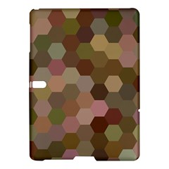 Brown Background Layout Polygon Samsung Galaxy Tab S (10 5 ) Hardshell Case  by Nexatart