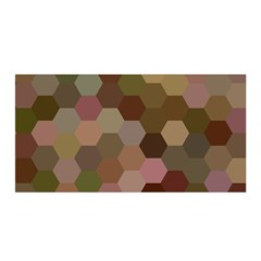 Brown Background Layout Polygon Satin Wrap by Nexatart