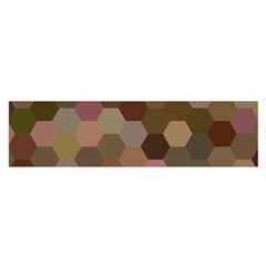 Brown Background Layout Polygon Satin Scarf (oblong) by Nexatart