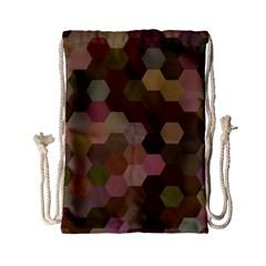 Brown Background Layout Polygon Drawstring Bag (small) by Nexatart