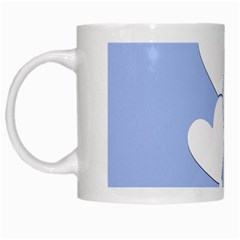 Clouds Sky Air Balloons Heart Blue White Mugs