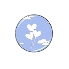 Clouds Sky Air Balloons Heart Blue Hat Clip Ball Marker (10 Pack)