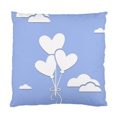 Clouds Sky Air Balloons Heart Blue Standard Cushion Case (one Side) by Nexatart