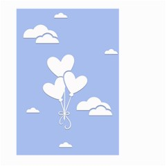 Clouds Sky Air Balloons Heart Blue Large Garden Flag (two Sides)