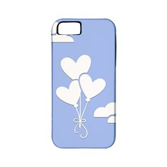 Clouds Sky Air Balloons Heart Blue Apple Iphone 5 Classic Hardshell Case (pc+silicone)