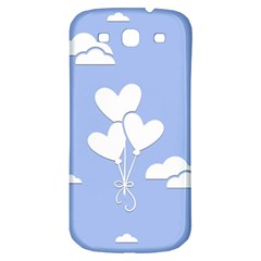 Clouds Sky Air Balloons Heart Blue Samsung Galaxy S3 S Iii Classic Hardshell Back Case by Nexatart