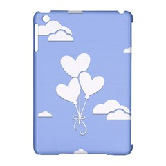 Clouds Sky Air Balloons Heart Blue Apple Ipad Mini Hardshell Case (compatible With Smart Cover) by Nexatart