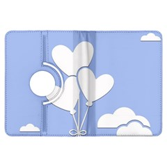 Clouds Sky Air Balloons Heart Blue Kindle Fire Hdx Flip 360 Case by Nexatart