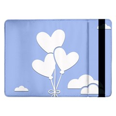 Clouds Sky Air Balloons Heart Blue Samsung Galaxy Tab Pro 12 2  Flip Case by Nexatart