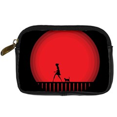 Girl Cat Scary Red Animal Pet Digital Camera Cases