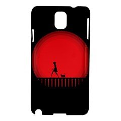 Girl Cat Scary Red Animal Pet Samsung Galaxy Note 3 N9005 Hardshell Case